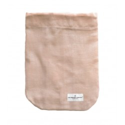 Stofpose, stor - rosa