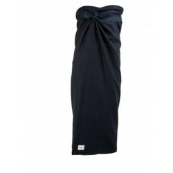 Wellness håndklæde - sort/blå