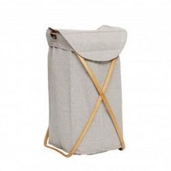 Vasketøjskurv, Stof/Bambus