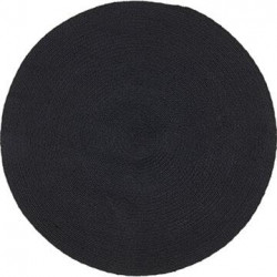 Tæppe -Recykle -sort Ø130 cm